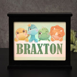 Lil Dino personalized light box makes a cute night light for kids.