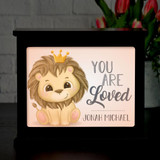 Personalized children's light box makes a great night light.