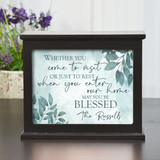 Be Blessed Personalized light box is a beautiful housewarming gift with family last name.