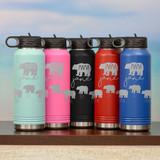 Mama Bear Personalized Water Bottle