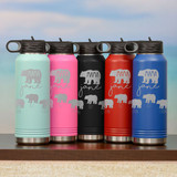 Mama Bear Personalized Water Bottle