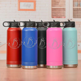 Monogram Water Bottle for Her