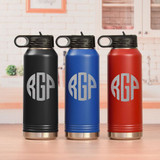 Triple Initial Water Bottle