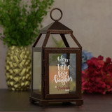 Personalized Lantern with LED Candle