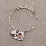 Photo Heart Charm Bracelet