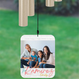 Live Laugh Love Wind Chime Personalized with Photo