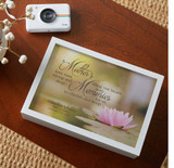 Personalize this memorial keepsake box for loss of mom with her name and dates.