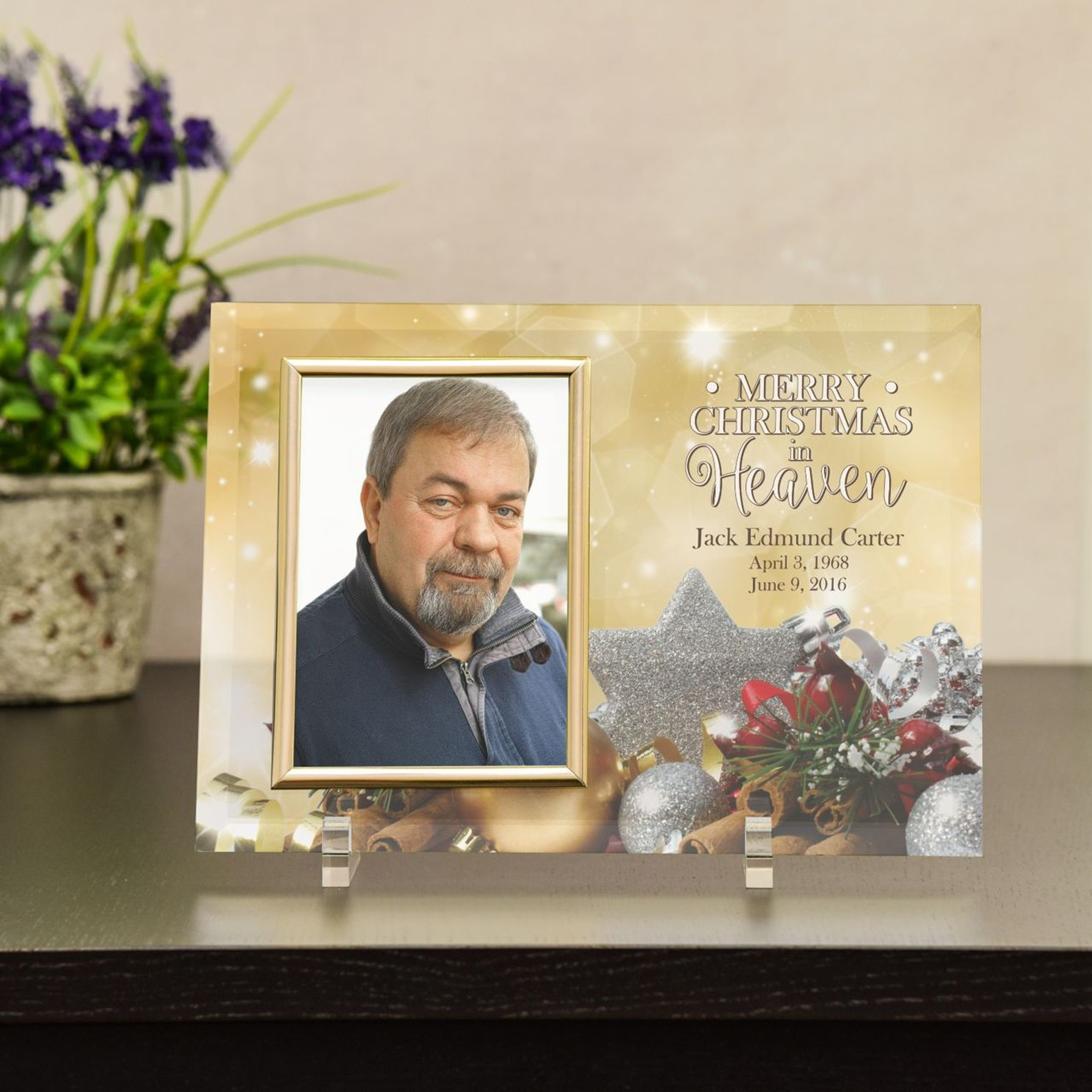 Christmas In Heaven.Merry Christmas In Heaven Memorial Frame