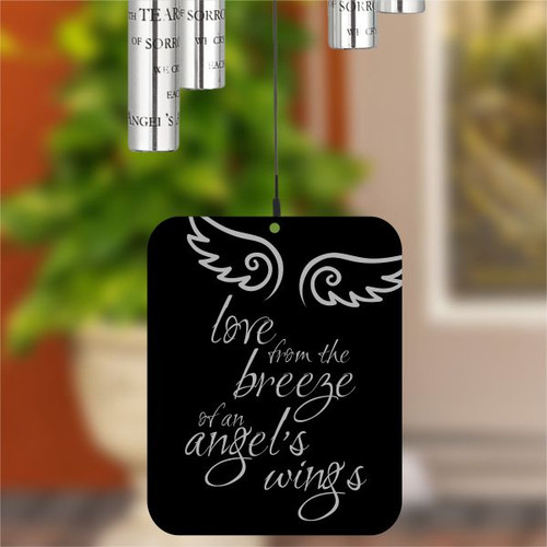 Wind sail is engraved with angel wings
