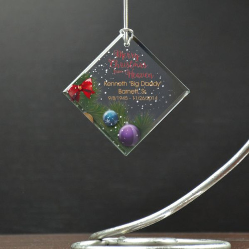 Merry Christmas In Heaven Personalized Memory Ornament