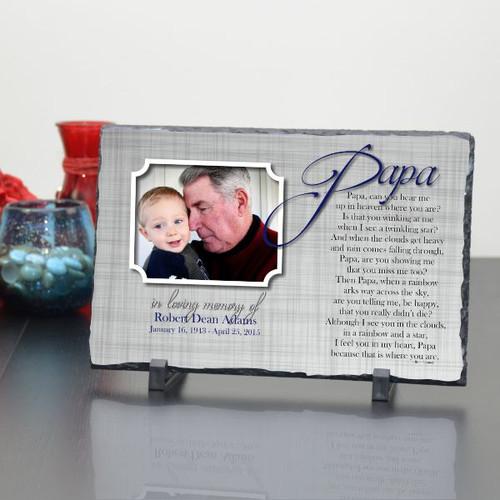 Papa Memorial Plaque