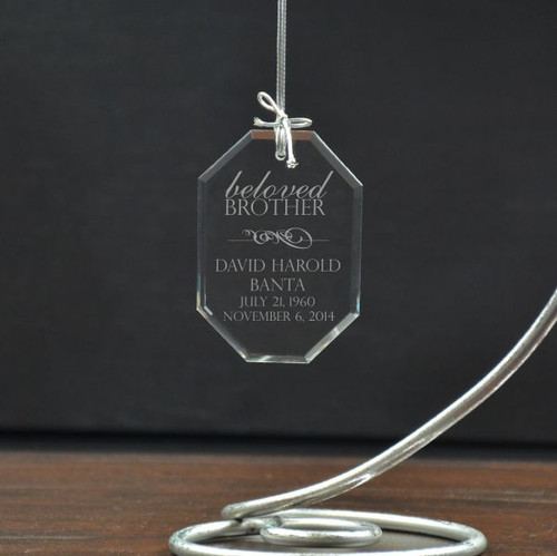 Beloved Brother Personalized Memorial Ornament