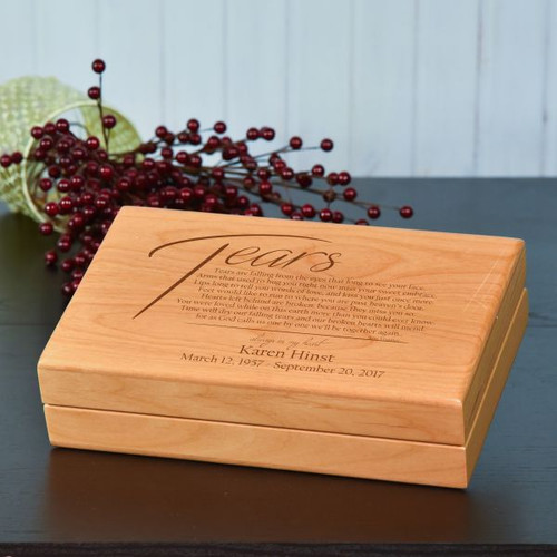 Bereavement Box featuring Tears Poem and Personalized