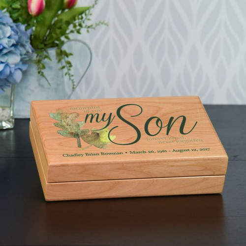 Mementos of My Son Keepsake Box Personalized