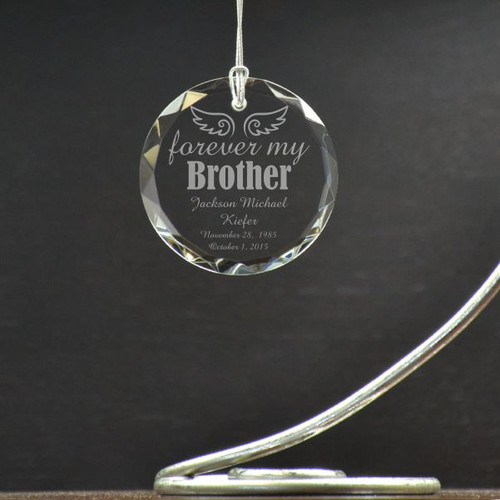 Forever My Brother Personalized Memorial Ornament