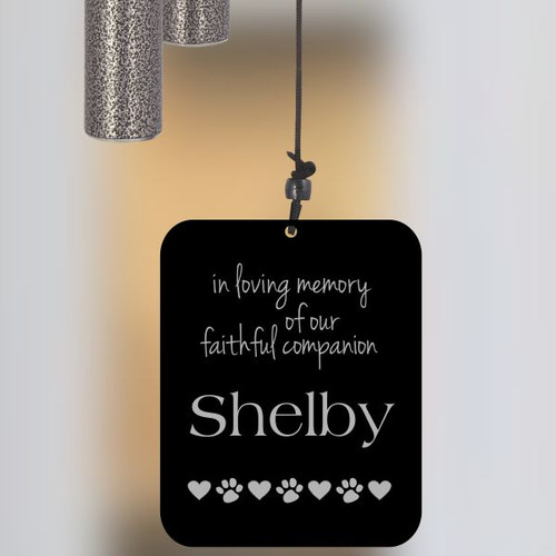 Faithful Companion Pewter Wind Chime