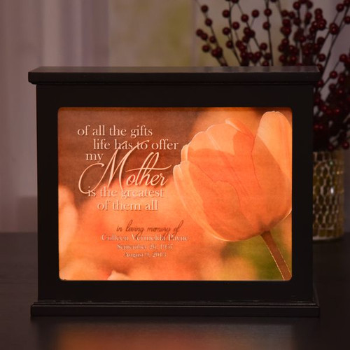 My Mother Memorial Light Box