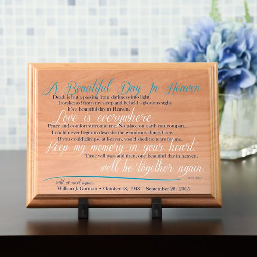 Beautiful Day In Heaven Plaque