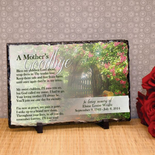 Mother's Goodbye Full Color Large Plaque