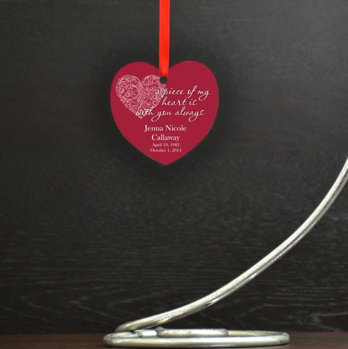 Piece of my Heart Personalized Memory Ornament