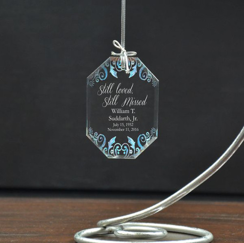 Still Loved Remembrance Ornament Personalized