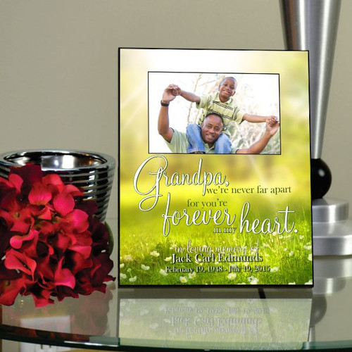Grandpa Forever Loved Memorial Picture Frame