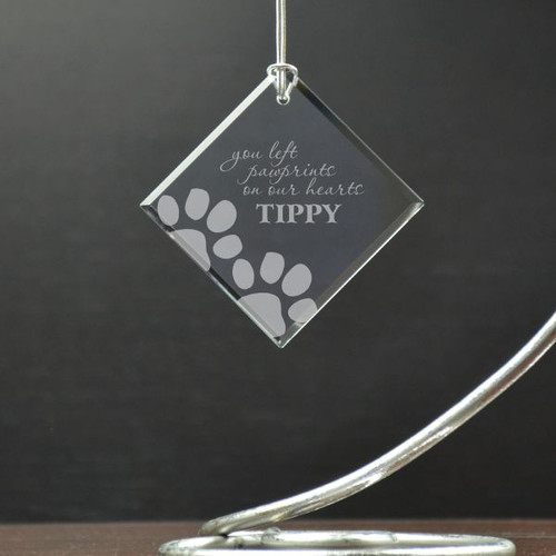 Paw Prints on Our Hearts Memory Ornament