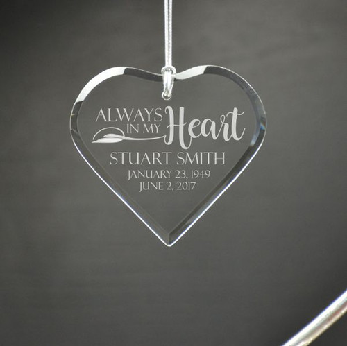 In My Heart Personalized Memory Ornament
