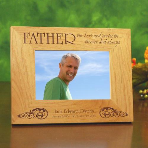 Engraved Memorial Frame for Dad