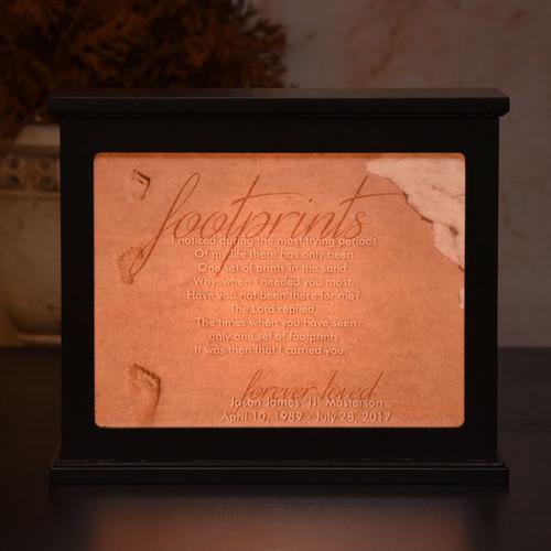 Footprints Memorial Light Box