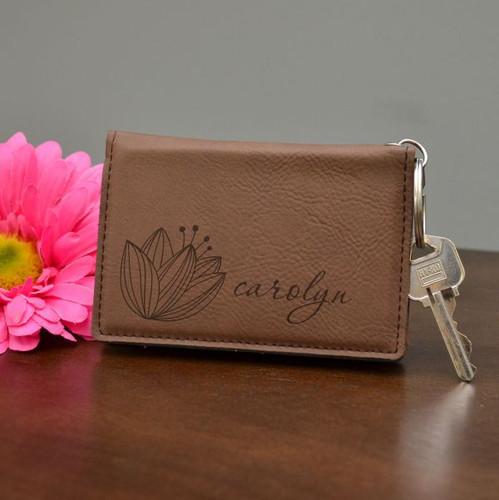 Vintage Flower Key Chain Wallet