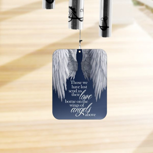 Wind sail printed with angel wings