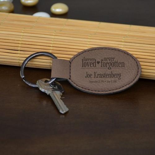Never Forgotten Oval Key Chain