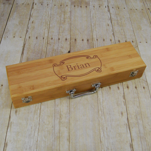 Personalized Scroll Barbeque Set