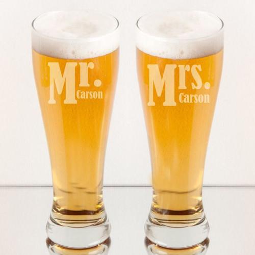 Mr. & Mrs. Pilsner Set