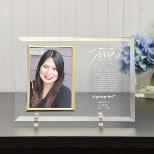 Memorial Picture Frame with Tears Poem