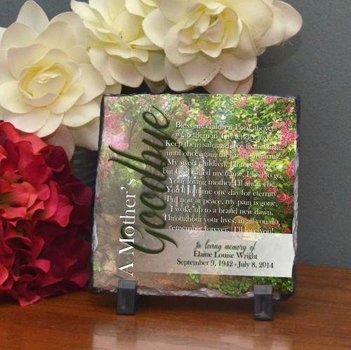 A Mother's Goodbye Small Plaque