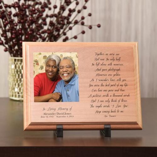 Your Photograph Memorial Wood Plaque