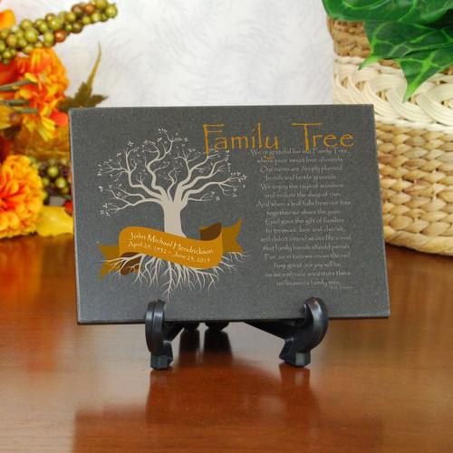 Family Tree Memorial Plaque