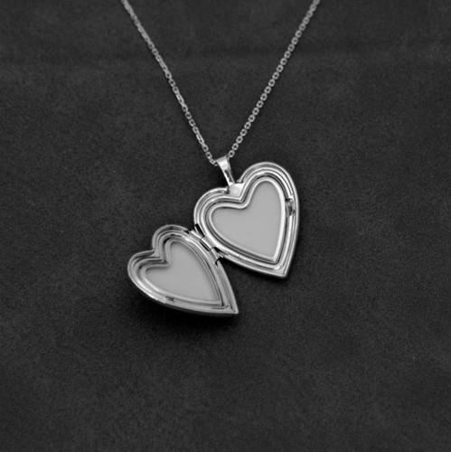 Memorial Heart Locket with Cross