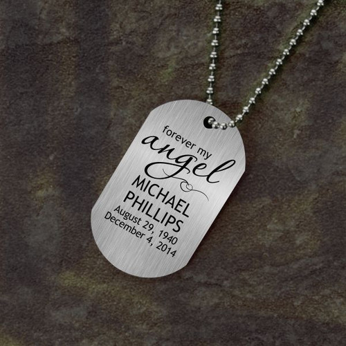 Forever My Angel Memorial Dog Tag