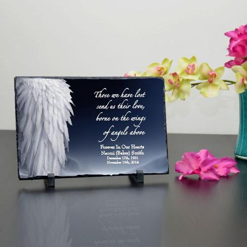 Angel Wings Memorial Plaque