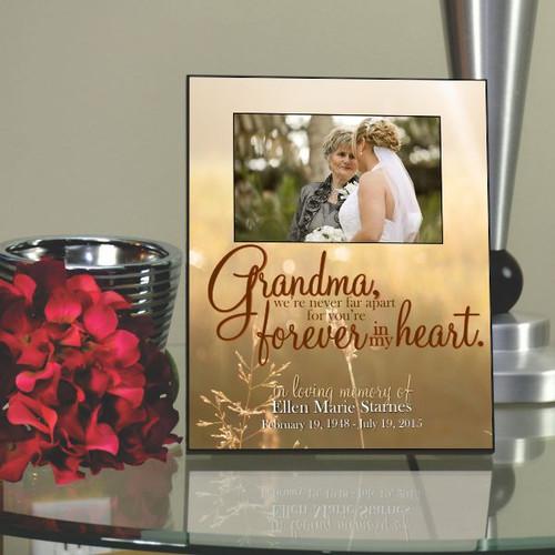 Grandma Forever Loved Memorial Picture Frame