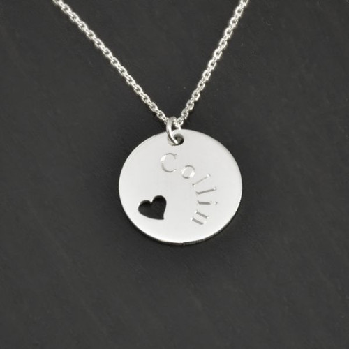 In memory of heart necklace