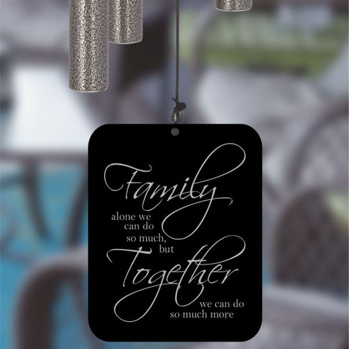 Together in Family Pewter Wind Chime