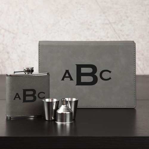 Monogram Flask Set