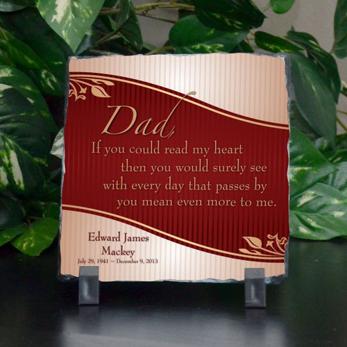 Dad Means More Small Plaque