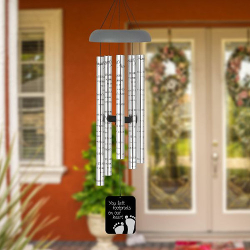 Footprints Angel Wind Chime