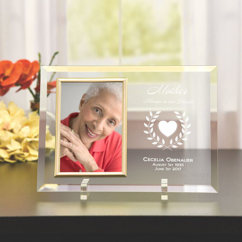 Mother's Always in our Hearts Glass Picture Frame