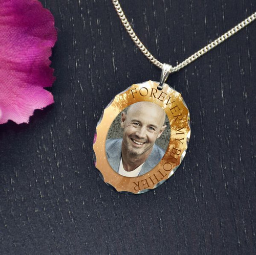 Forever Brother Photo Pendant